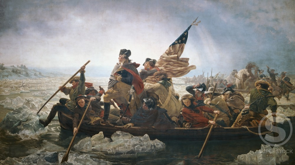 Stock Photo: 262-1726 Washington Crossing the Delaware River