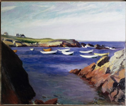 Stock Photo: 262-1759 The Dories, Ogunquit by Edward Hopper, oil on canvas, 1914, 1882-1967, USA, New York, Whitney Museum of American Art