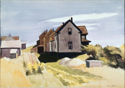 Stock Photo: 262-1761 Group of Houses by Edward Hopper, 1882-1967