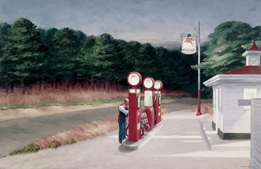 Gas by Edward Hopper, 1882-1967 : Stock Photo