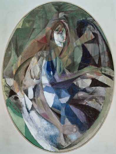 Stock Photo: 262-1822 Little Girl At Piano by Jacques Villon, oil on canvas, 1875-1963