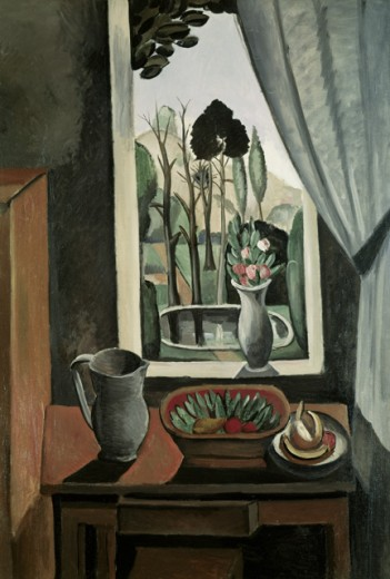 Window on the Park by Andre Derain, oil on canvas, 1912, 1880-1954 : Stock Photo