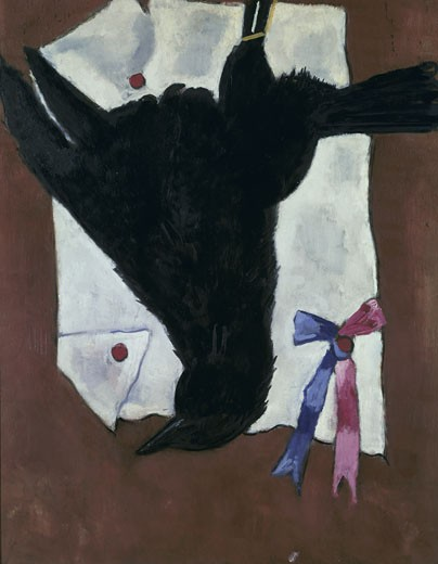 Stock Photo: 262-1835 Crow With Ribbons by Marsden Hartley, 1877-1943