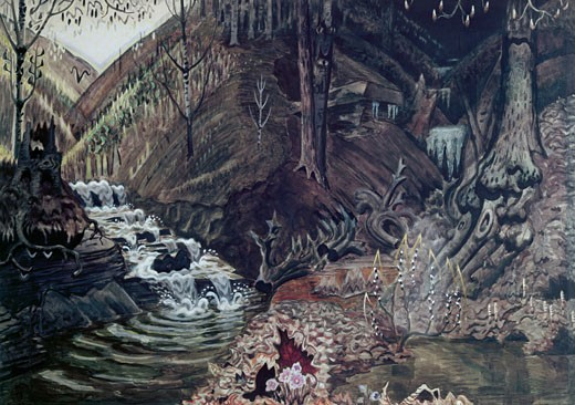 Stock Photo: 262-1874 The Coming Of Spring by Charles Burchfield, 1893-1967