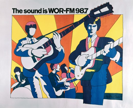 Stock Photo: 262-2004 The Sound is WOR-FM 98.7 by Milton Glaser, Poster
