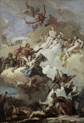 Stock Photo: 262-2033 Apotheosis of Aeneas 