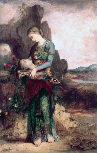 Stock Photo: 262-2041 The Thracian Maiden Gustave Moreau (1826-1898 French) Washington University Art Gallery, St. Louis, MO