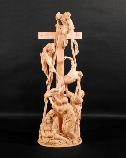 Stock Photo: 262-2071 Descent from the Cross by Adam Lenckhardt, sculpture, 1653, USA, Ohio, Cleveland Museum of Art