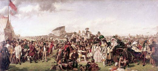 Derby Day 1858 William Powell Frith (1819-1909 British) Oil On Canvas Tate Gallery, London, England : Stock Photo