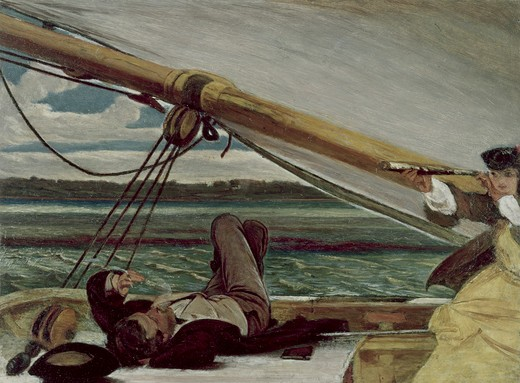 Stock Photo: 262-2079 Outward Bound by Augustus Leopold Egg, 1816-1863, UK, England, Oxford, Ashmolean Museum
