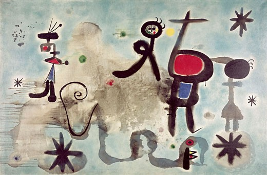 Stock Photo: 262-2089 Composition by Joan Miro, 1893-1983, Private Collection
