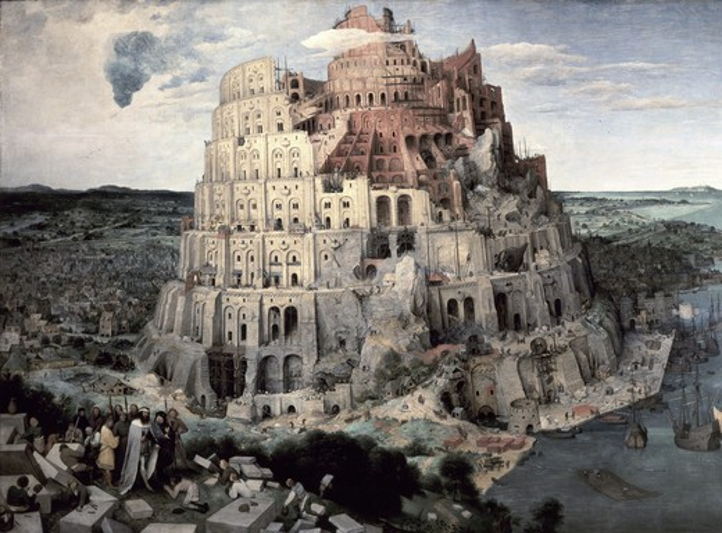 Stock Photo: 262-2110 Tower of Babel 1563 Pieter Bruegel the Elder (ca.1525-1569/Flemish) Oil on Wood Panel Kunsthistorisches Museum, Vienna, Austria