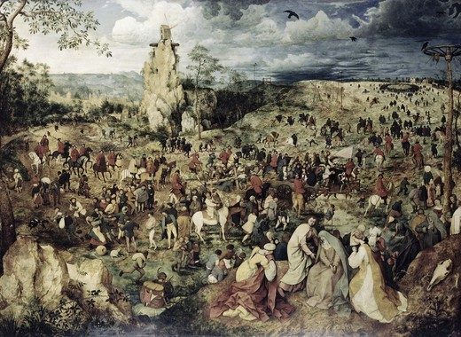 Stock Photo: 262-2117 The Procession to Calvary