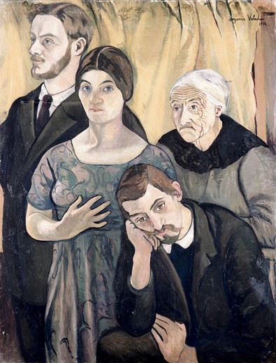 Stock Photo: 262-2147 Family Portrait by Suzanne Valadon, 1912, 1865-1938