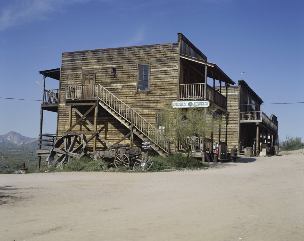 Stock Photo: 2624-174 Goldfield Ghost Town Apache Junction Arizona USA