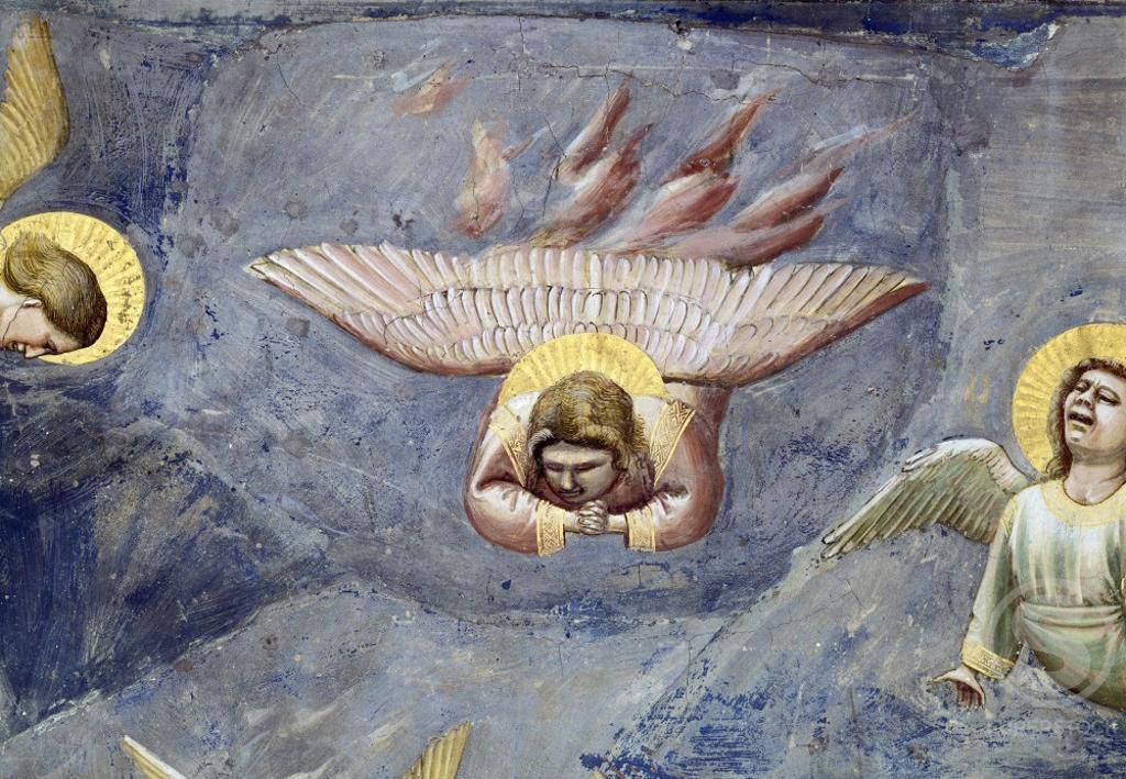Stock Photo: 263-311 The Lamentation (Detail) Giotto di Bondone (c.1266-1337/Italian) Fresco Arena Chapel, Padua, Italy