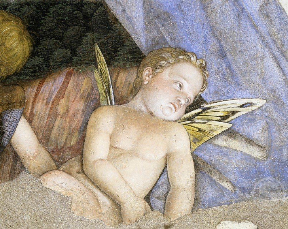 Stock Photo: 263-328 Camera degli Sposi: Putti (Detail) 