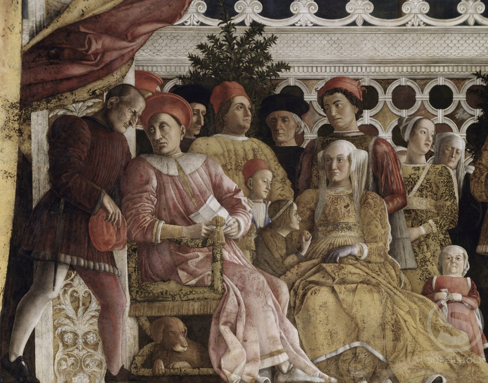 Stock Photo: 263-362 Camera degli Sposi:  The Court 
