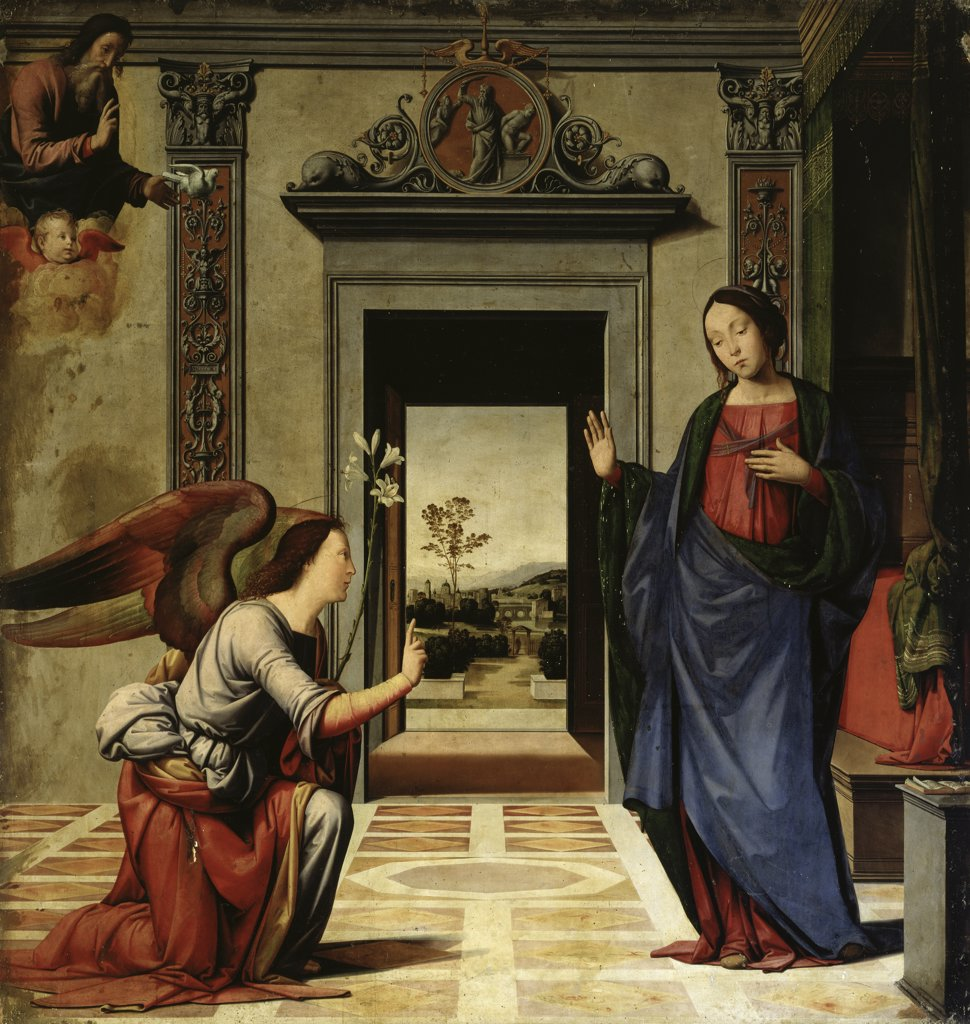 The Annunciation  (Predella Detail) 