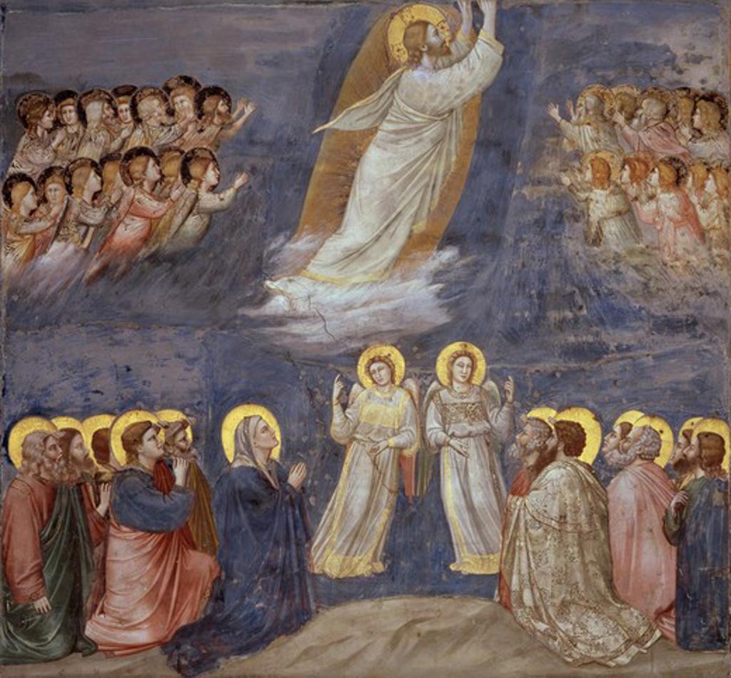Stock Photo: 263-415 The Ascension c.1305-13 Giotto (ca.1266-1337 Italian) Fresco Capella Scrovegni, Padua, Italy