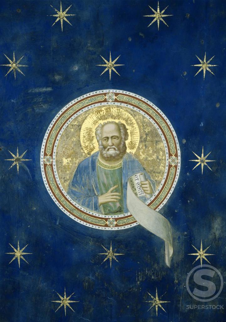 Stock Photo: 263-424 Prophet Malachi    c. 1305-1313  Fresco  Giotto di Bondone (c. 1266-1337/Florentine)  Arena Chapel, Cappella degli Scrovegni, Padua, Italy