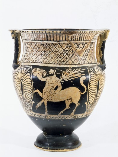 Stock Photo: 263-451 Kelebe - Centaur with Branch in Left Hand and Bag in Right Hand