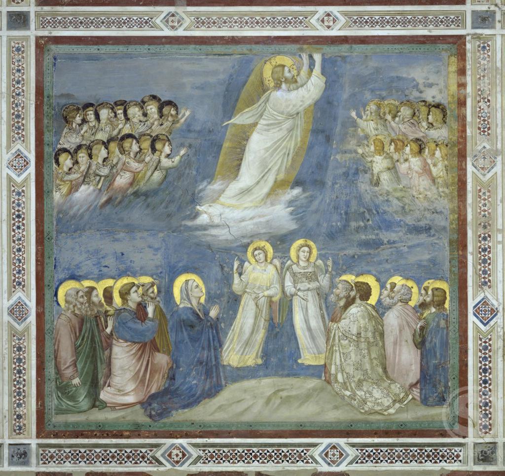 Stock Photo: 263-47 The Ascension  Giotto di Bondone (c. 1266-1337/ Florentine) Fresco   Arena Chapel, Cappella degli Scrovegni, Padua