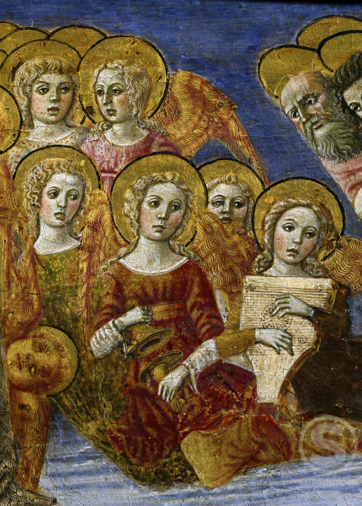 Stock Photo: 263-477 The Ascension  (Predella Detail) 