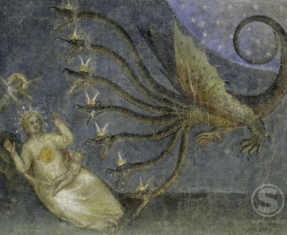 Stock Photo: 263-559 The Dragon Wants to Devour the Infant from Apocalypse:  Descent of the Holy Ghost 