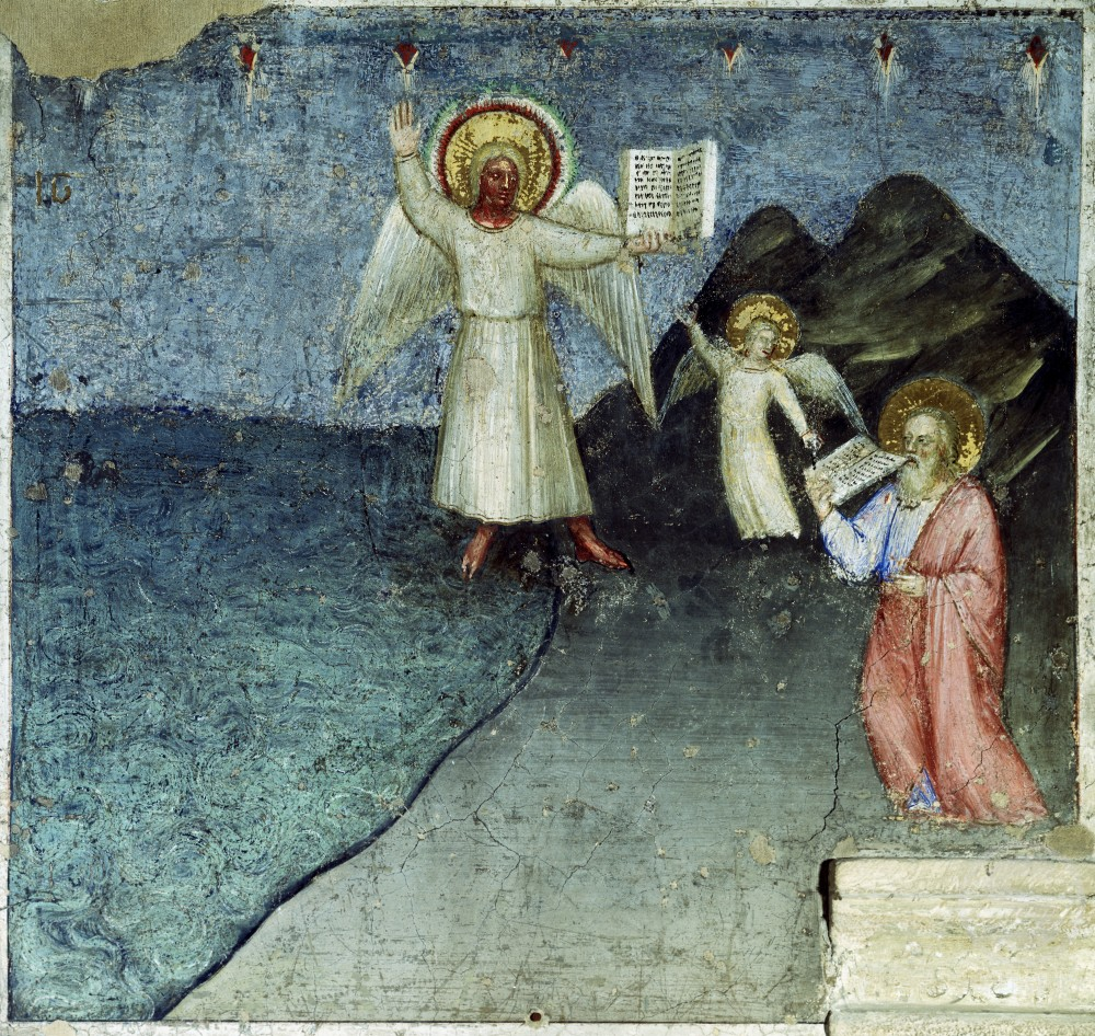 Stock Photo: 263-561 The Seventh Angel with an Open Book from Apocalypse:  Descent of the Holy Ghost 