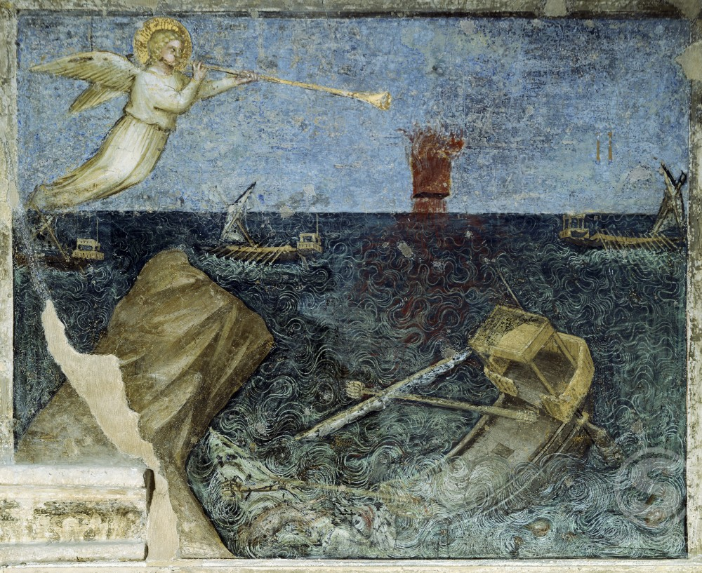 The Second Angel with the Trumpet and the Agitation of the Sea from Apocalypse:  Descent of the Holy Ghost 