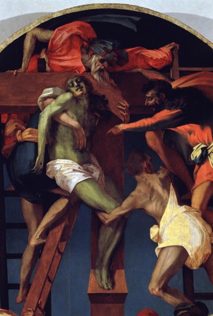 Stock Photo: 263-580 Descent from The Cross (Detail) Rosso Fiorentino (1494-1540 Italian) Pinacoteca, Volterra