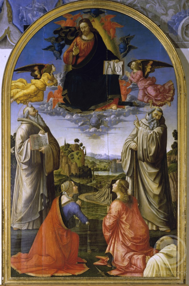 Stock Photo: 263-586 Christ in Glory among the Saints 