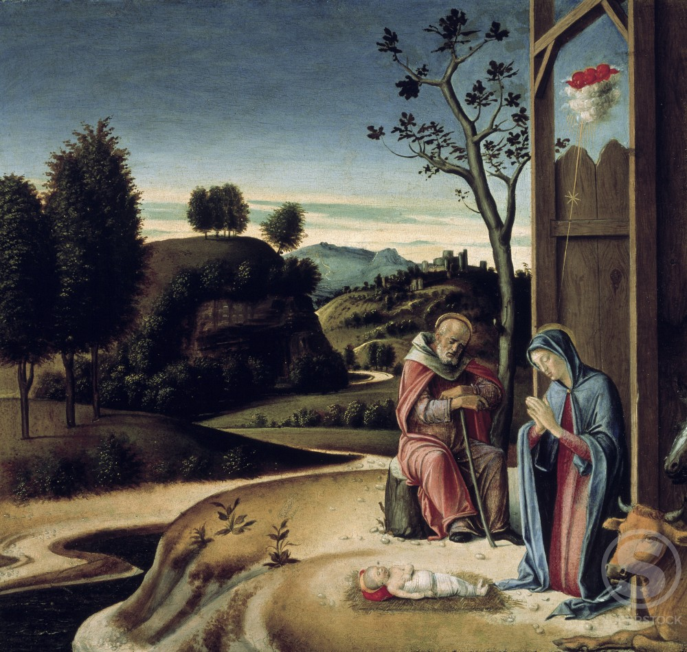 Stock Photo: 263-616 Birth of Jesus from the Pala Pesaro 