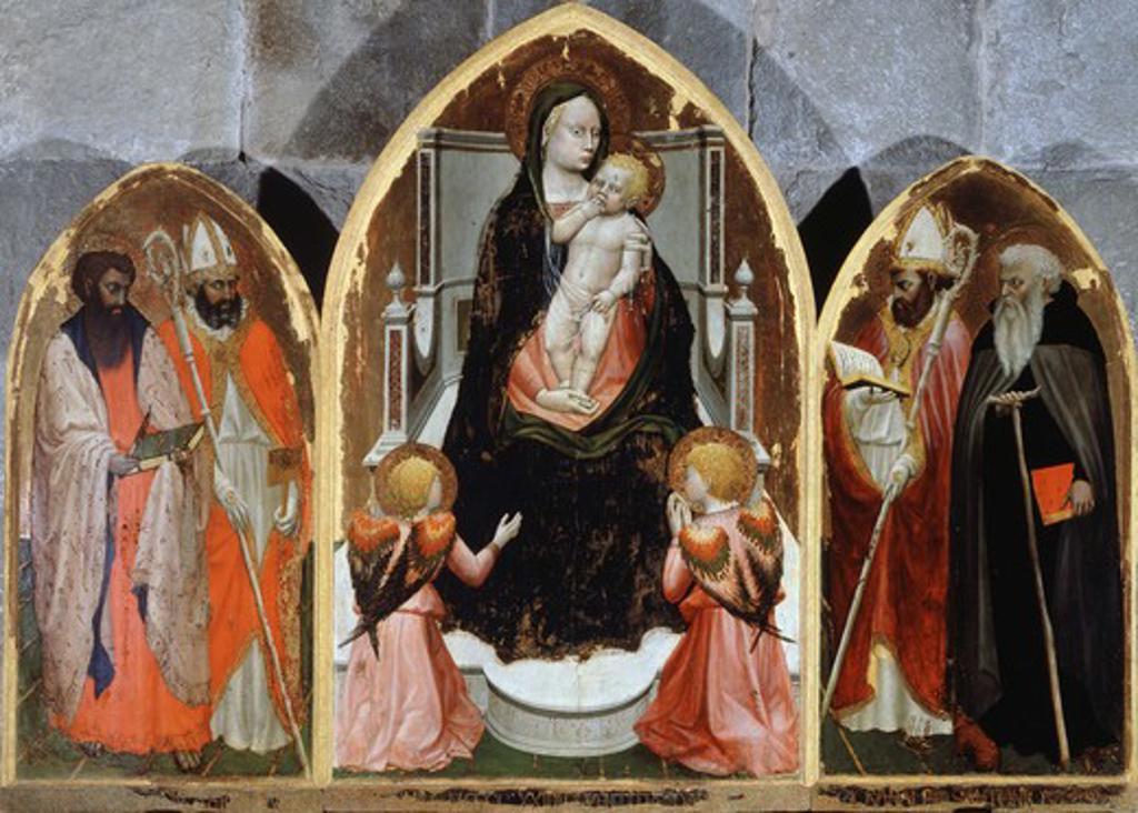 Triptych Masaccio (1401-1428 Italian) Tempera On Board San Pietro a Cascia, Reggello, Florence, Italy : Stock Photo
