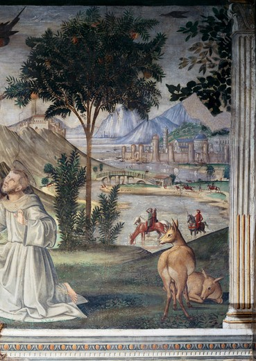 Saint Francis Receives the Stigmata - Detail 