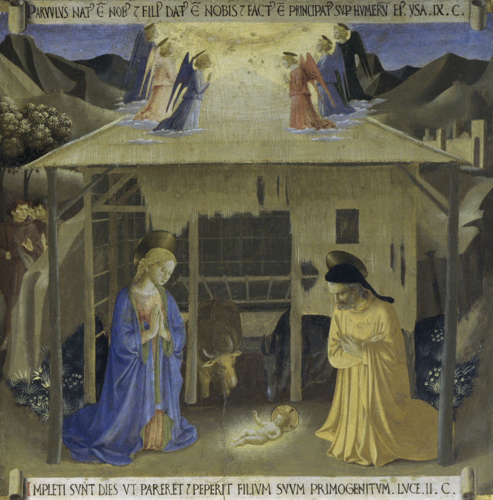 Stock Photo: 263-702 The Story of the Life of Christ Detail: Nativity