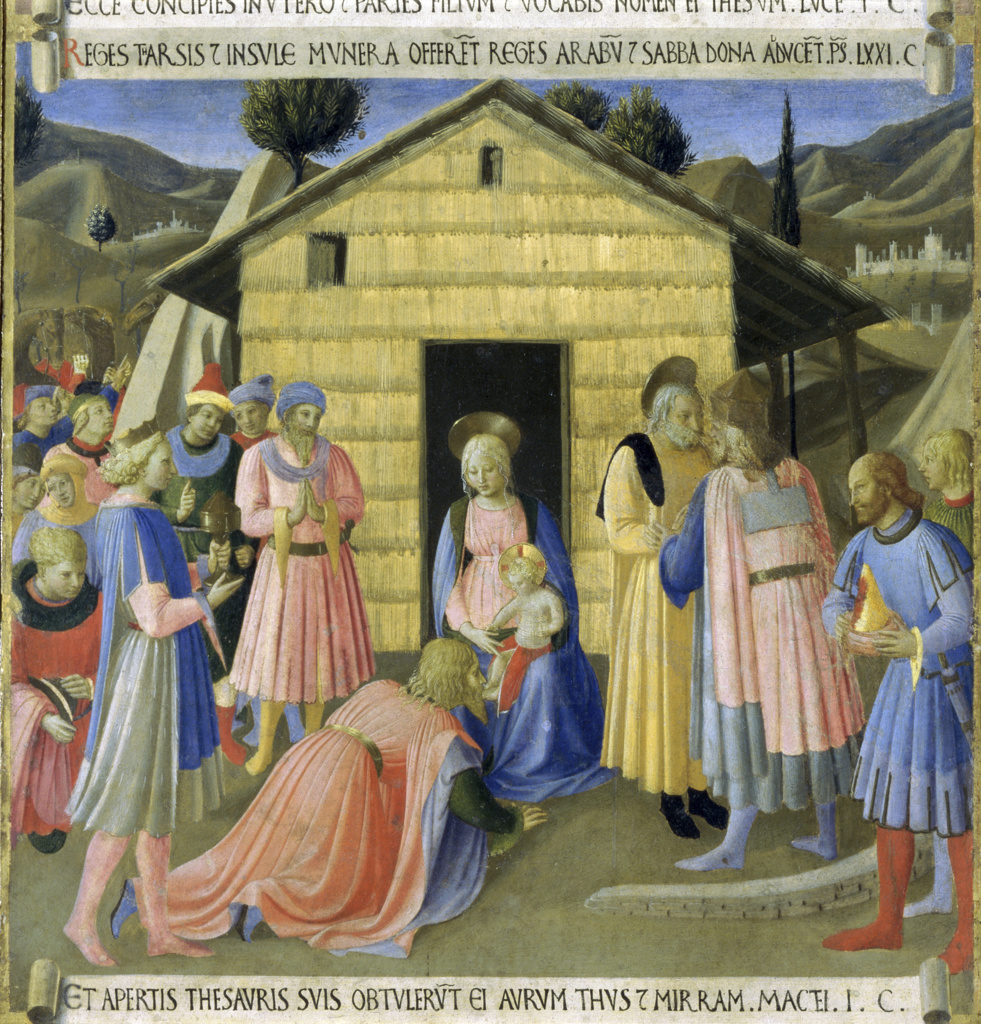 Stock Photo: 263-704 The Story of the Life of Christ Detail:  Adoration of the Magi 
