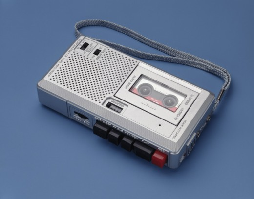 Stock Photo: 274-135A Close-up of a tape recorder