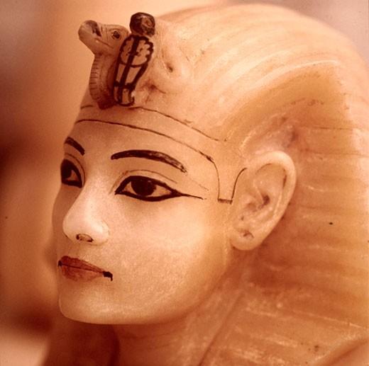 Stock Photo: 2757-552754 Tutankhamen: Bust of Tut Egyptian Art Egyptian National Museum Cairo, Egypt