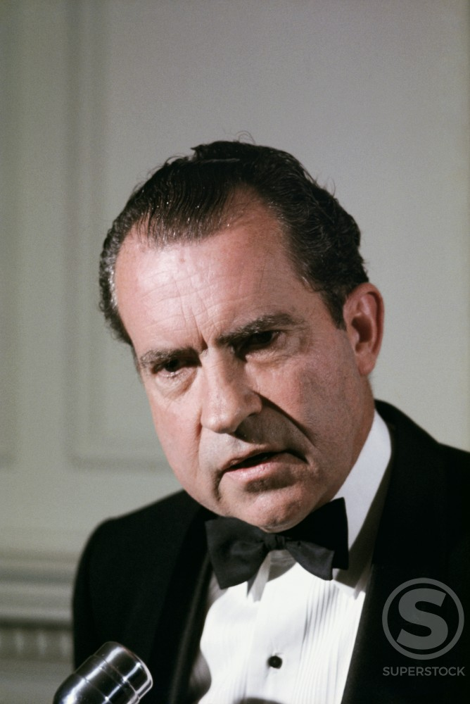 Stock Photo: 2783-448379 Richard Milhous Nixon 37th President of the United States (1913-1994)