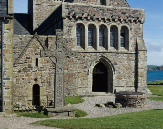 Iona Cathedral With Saint John's Cross
