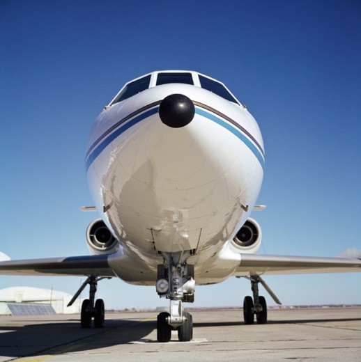 Stock Photo: 2825-499913 Falcon Business Jet