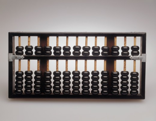 Stock Photo: 287-110A Close-up of an abacus