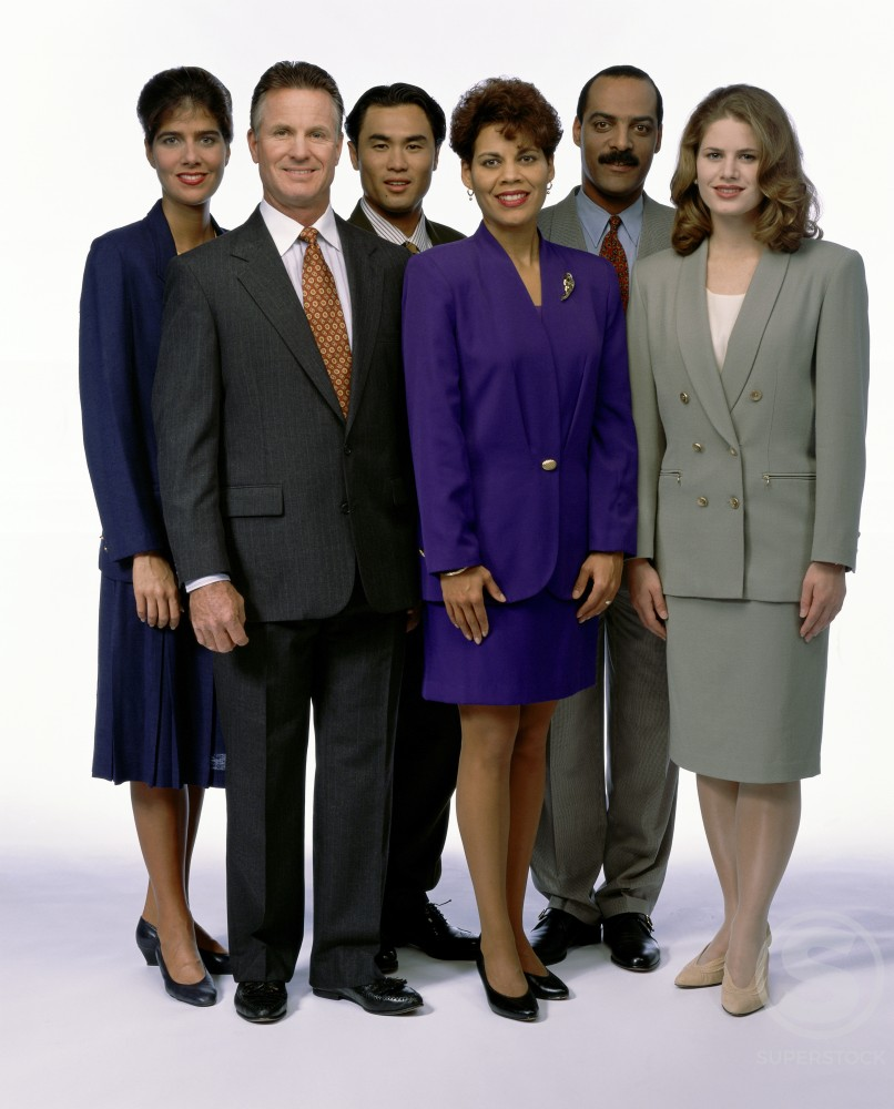 Stock Photo: 287-536A Business executives standing together