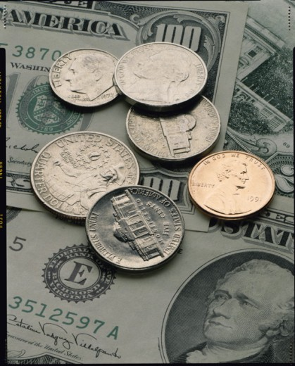 Close-up of American currency : Stock Photo