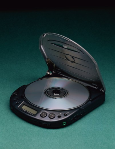 Close-up of a personal compact disc player : Stock Photo