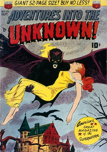 Golden Age, Comic Book, cover art : Stock Photo