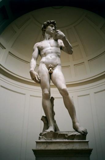 Stock Photo: 3-574 David 1501-4 Michelangelo Buonarroti (1475-1564 Italian) Marble Galleria dell 'Academia, Florence, Italy