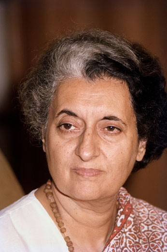 Indira Gandhi Prime Minister of India (1917-1984) : Stock Photo
